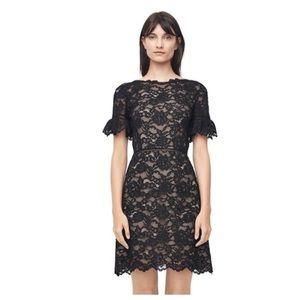 Rebecca Taylor Black Lace Cocktail Dress